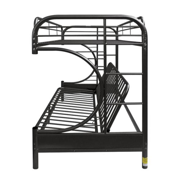 Homeroots Amelia Black Metal Tube Twin Daybed 286584 The Home Depot