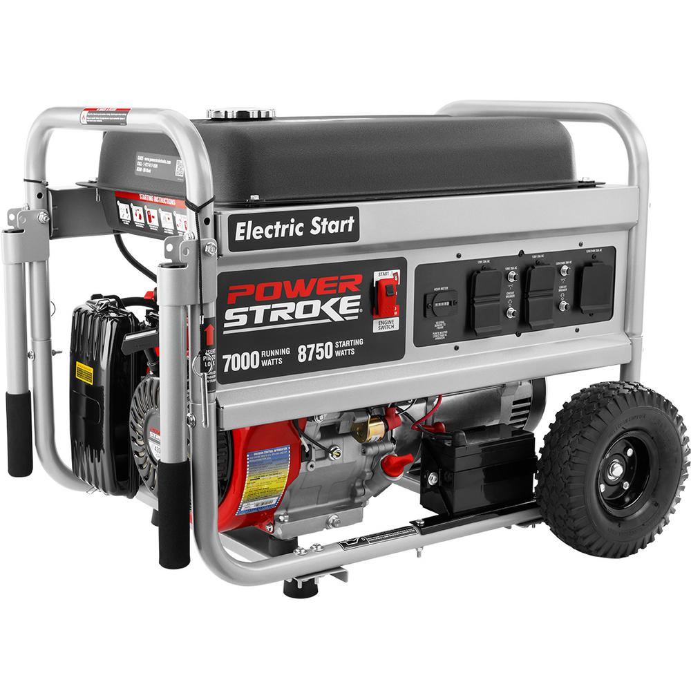 PowerStroke 7000-Watt Gasoline Powered Electric Start Portable ...