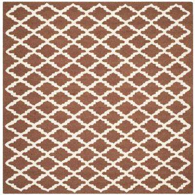 Cambridge Dark Brown/Ivory 6 ft. x 6 ft. Square Area Rug