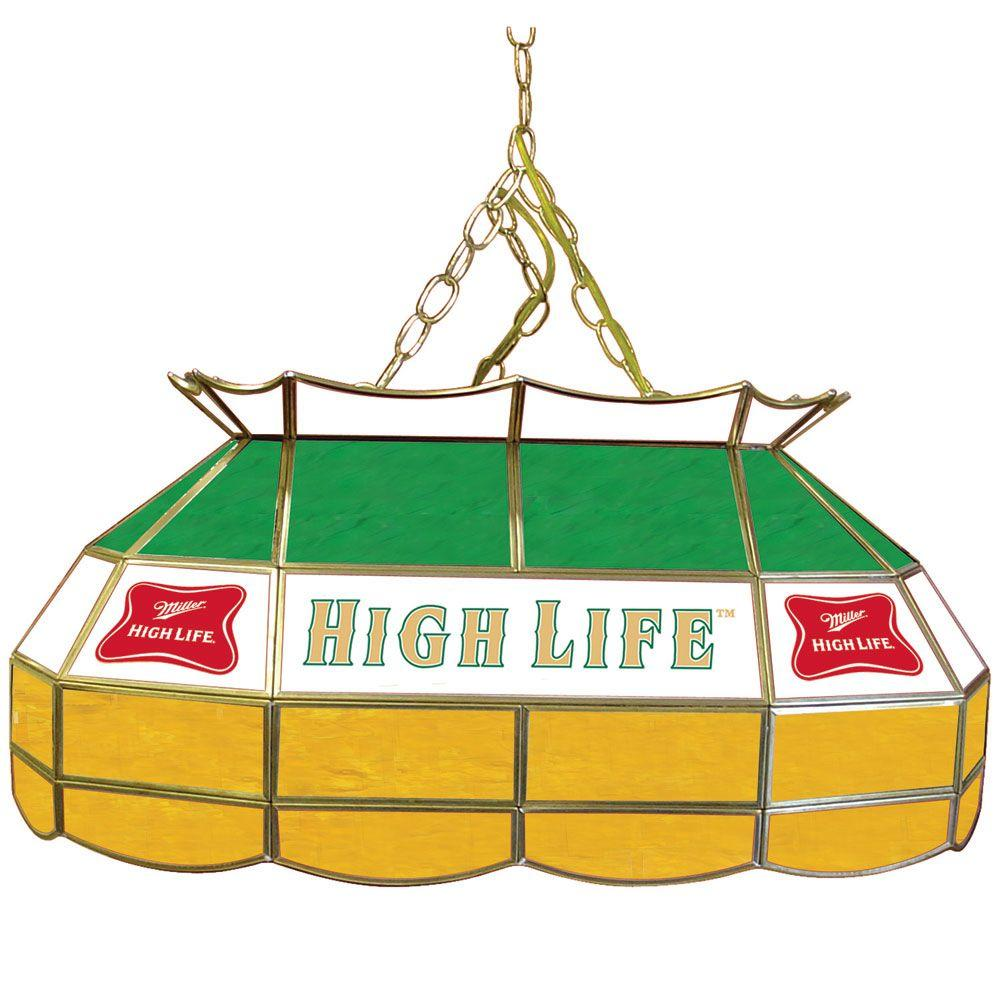Trademark Global Miller High Life 28 in. Gold Pool Table Light