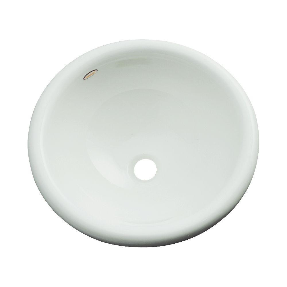Eudora Drop-In Bathroom Sink in Ice Gray