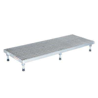 24 in. x 60 in. Aluminum Work-Mate Stand - Adjustable Height Range 5.75 in. x 7.75 in. (Serrated Deck)