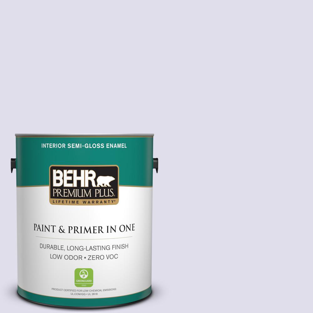 BEHR Premium Plus 1-gal. #M560-1 Sweet Bianca Semi-Gloss Enamel Interior Paint