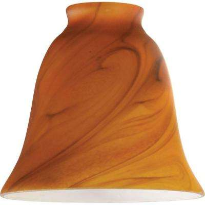 4-13/16 in. Handblown Burnt Umber Swirl Bell with 2-1/4 in. Fitter and 5-3/8 in. Width