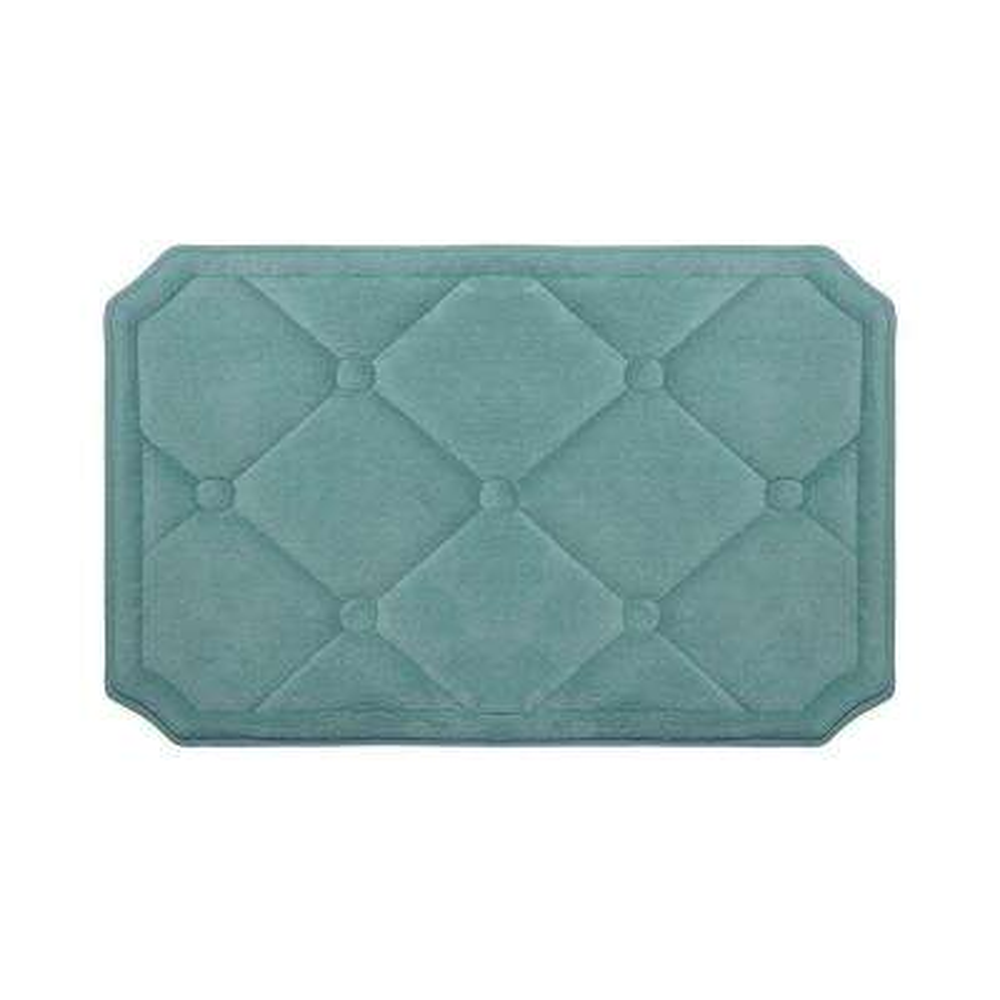 Gertie Marine Blue 17 in. x 24 in. Memory Foam Bath Mat