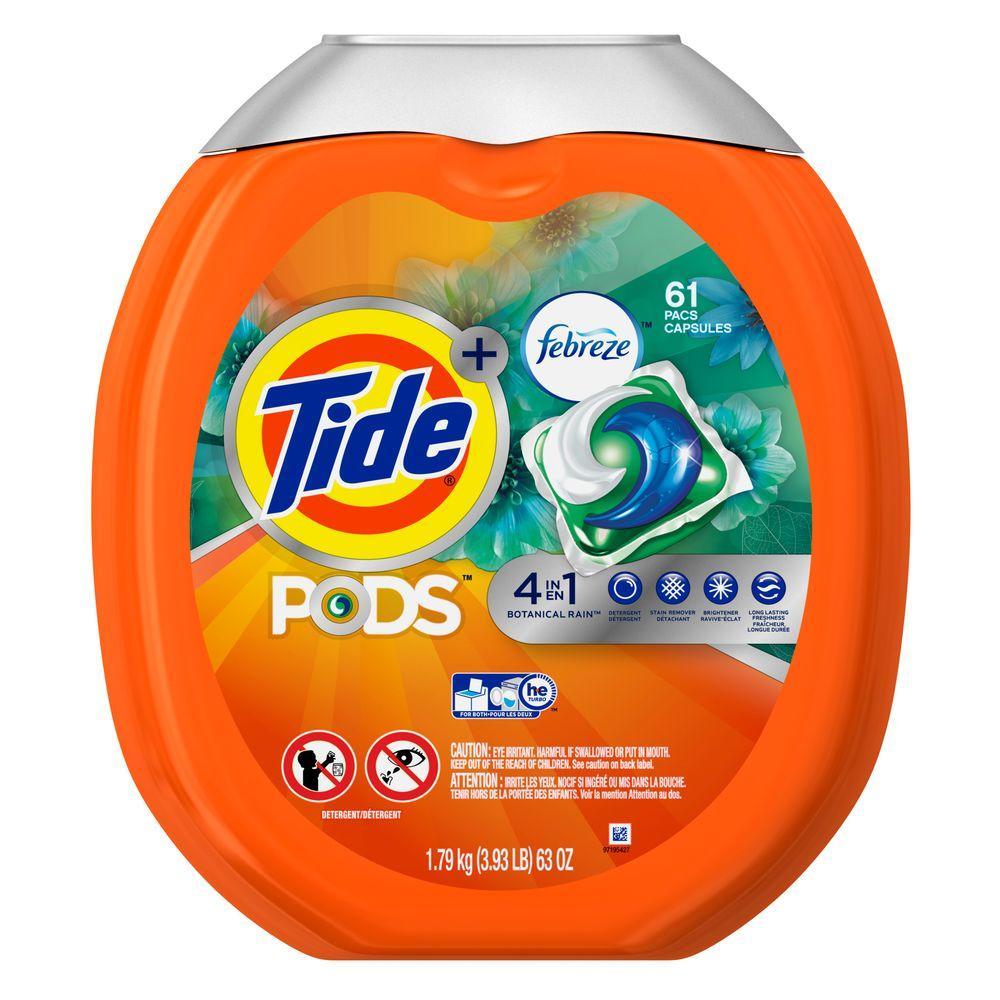 Tide Pods Botanical Rain Scent High Efficiency Laundry