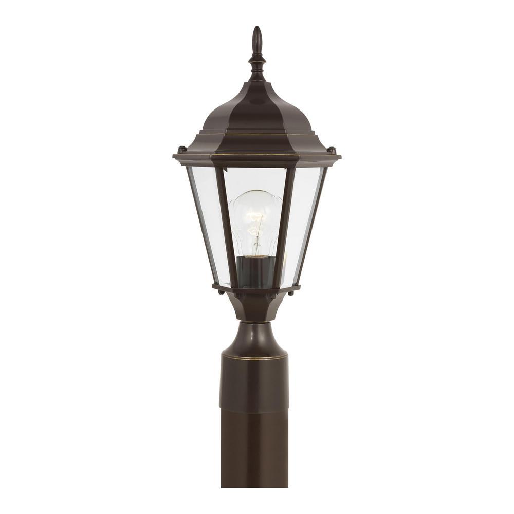 Bakersville 1-Light Heirloom Bronze Outdoor Post Lantern