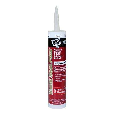 Kwik Seal Plus 10.1 oz. Clear Kitchen and Bath Adhesive Caulk with Microban