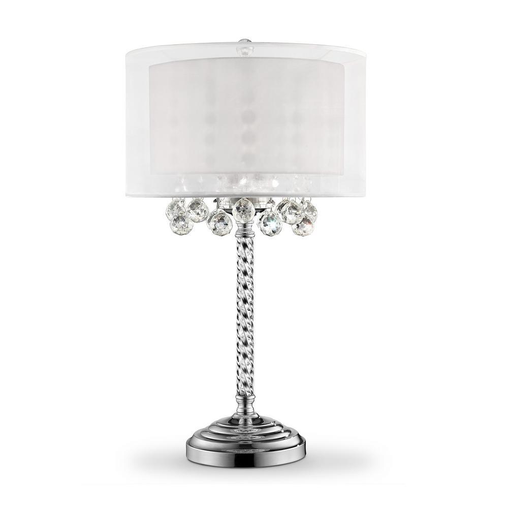 30 in. 3-Bulb Moiselle Crystal Table Lamp