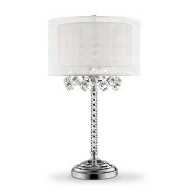 30 in. 3-Bulb Moiselle Crystal Table Lamp