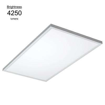 2 ft. X 4 ft. White Commercial Integrated LED 5000K Dimmable Drop Ceiling Flat Panel Troffer Light