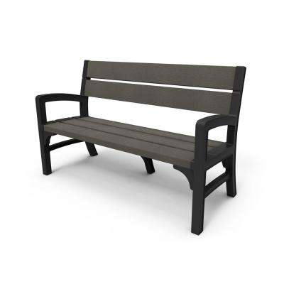 Brushwood 59 in. Resin Outdoor Garden Patio Bench