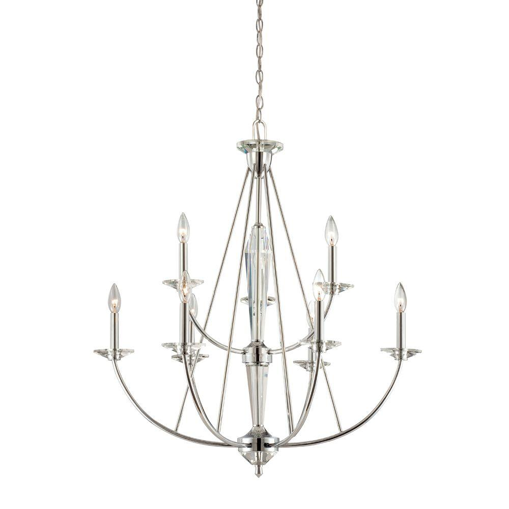 designers fountain palatial 9-light chrome interior incandescent chandelier-84289-ch