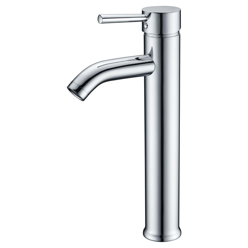 Anzzi fann single hole single handle vessel bathroom for Single hole bathroom faucets