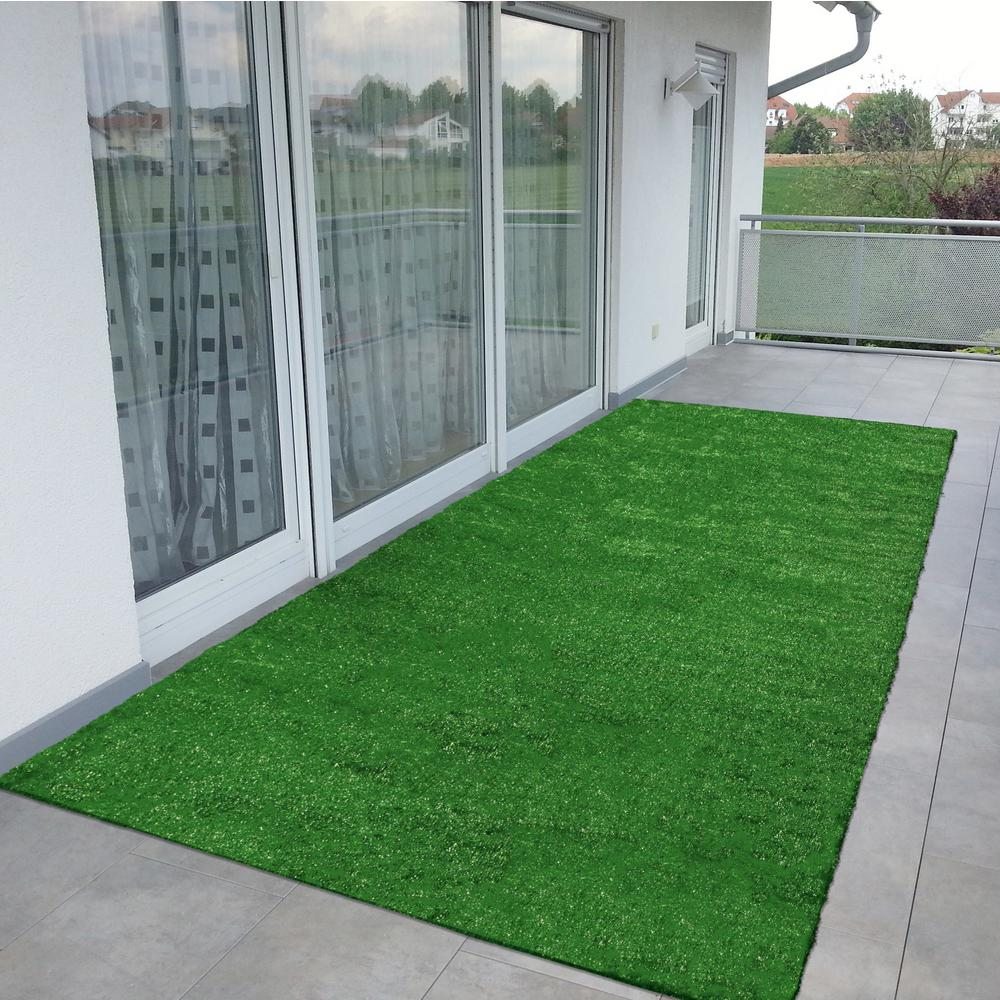Ottomanson Evergreen Collection 2 Ft 7 In X 8 Ft Artificial Grass