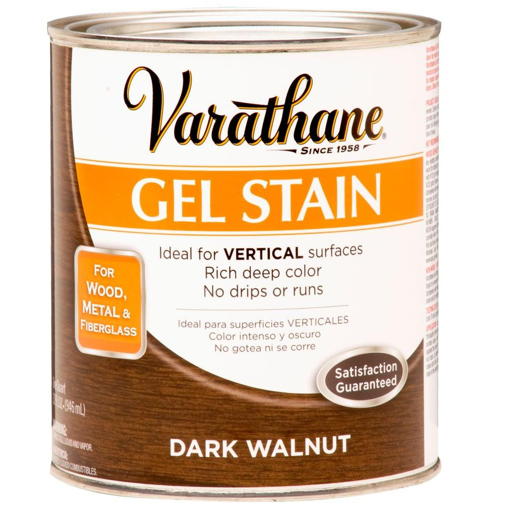 Varathane 1-qt. Dark Walnut Gel Stain (Case of 2)-266338 - The ...