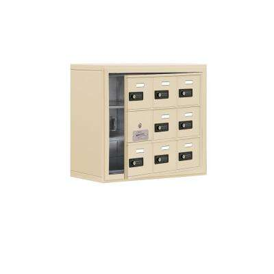 19100 Series 24 in. W x 20 in. H x 9.25 in. D 8 Doors Cell Phone Locker Surface Mount Resettable Lock in Sandstone