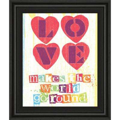 """22 in. x 26 in. """"Must Be Love I"""" by Tom Frazier Framed Printed Wall Art"""