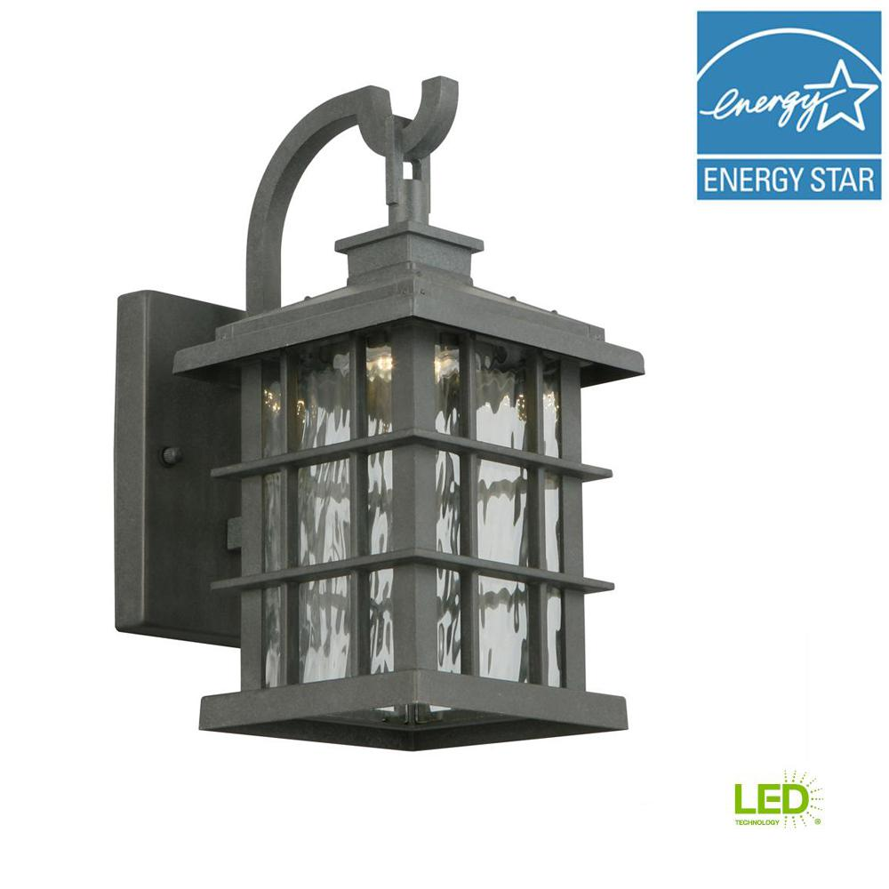 Eboli Small Post Light Aged Copper With Opal Glass: Home Decorators Collection Baxley Aged Patina Dusk To Dawn
