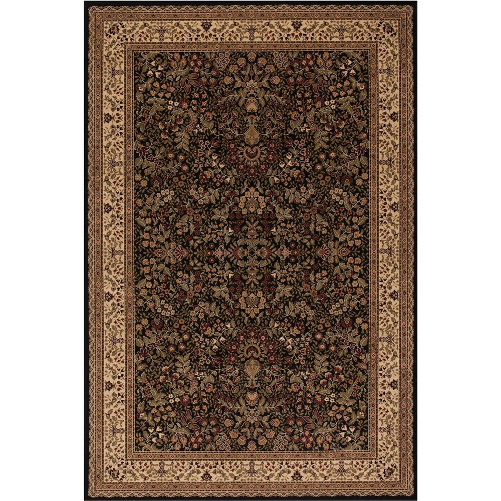 Persian Classics Sarouk Black 8 ft. x 11 ft. Area Rug
