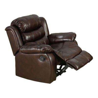 Berkshire Dark Brown Leatherette Recliner