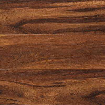Take Home Sample - High Gloss Kapolei Koa Laminate Flooring - 5 in. x 7 in.