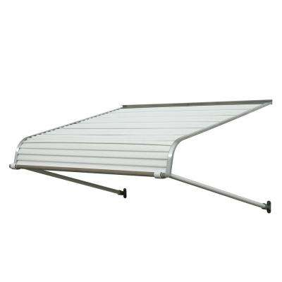 5.5 ft. 1100 Series Door Canopy Aluminum Awning (18 in. H x 48 in. D) in White