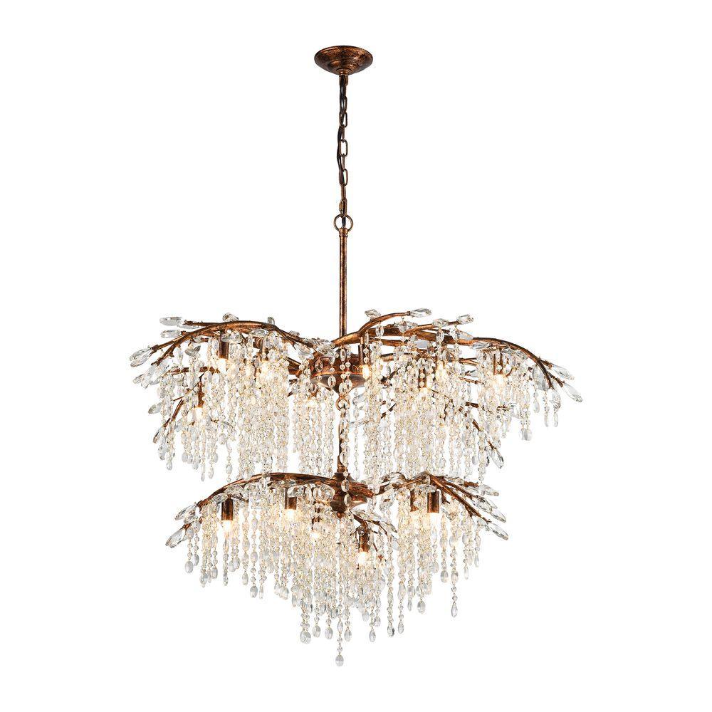 Titan lighting elia 18 light spanish bronze chandelier with metal titan lighting elia 18 light spanish bronze chandelier with metal and crystal branch aloadofball Images