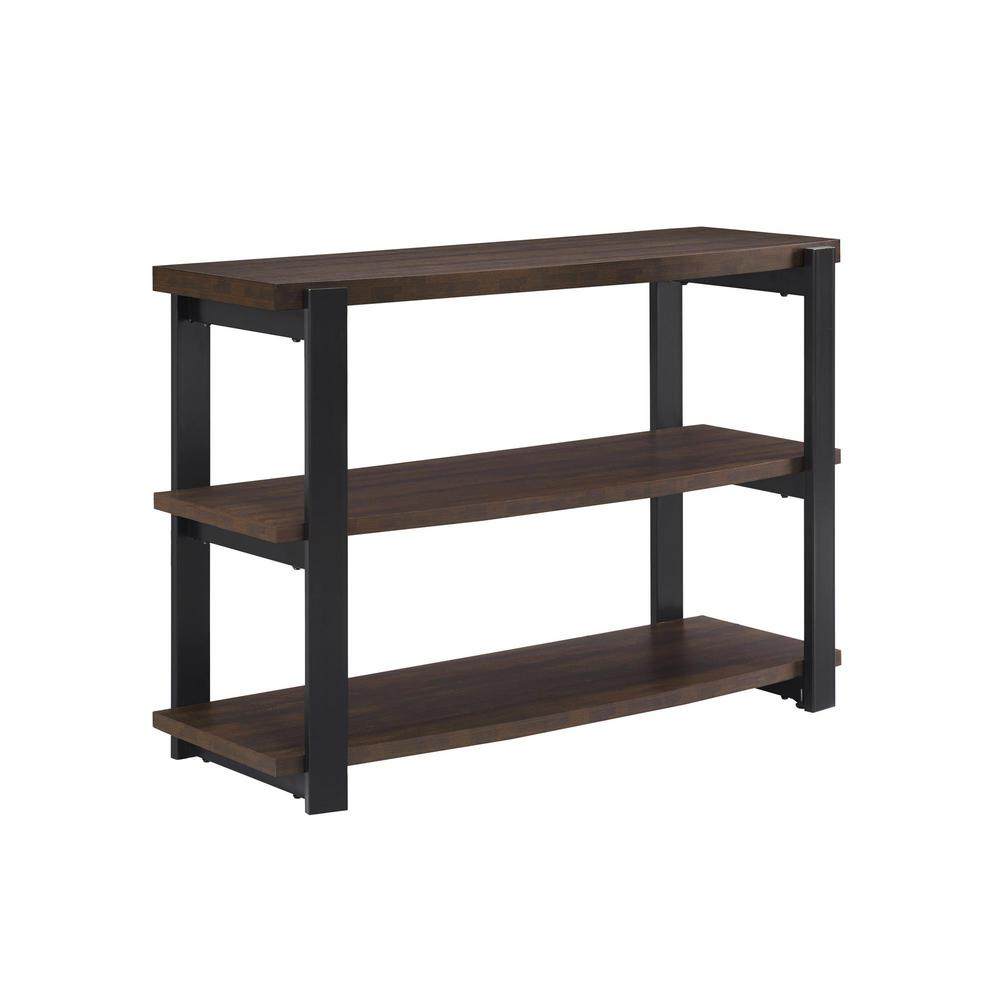 Ameriwood sycamore espresso and black console table for Outdoor furniture 77386