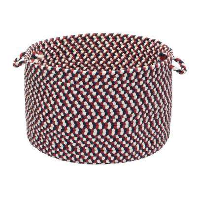 Americana Round Polypropylene Basket in Red/White/Blue
