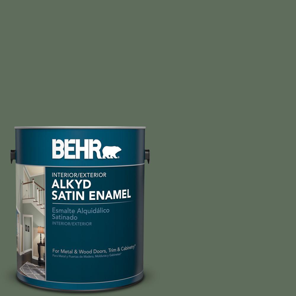 1 gal. #N400-6 Terrarium Satin Enamel Alkyd Interior/Exterior Paint