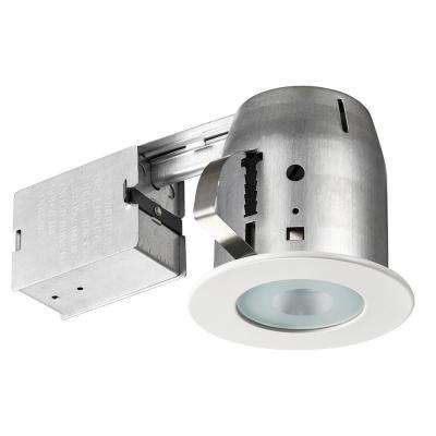 LED Shower 4 in. White Recessed Kit