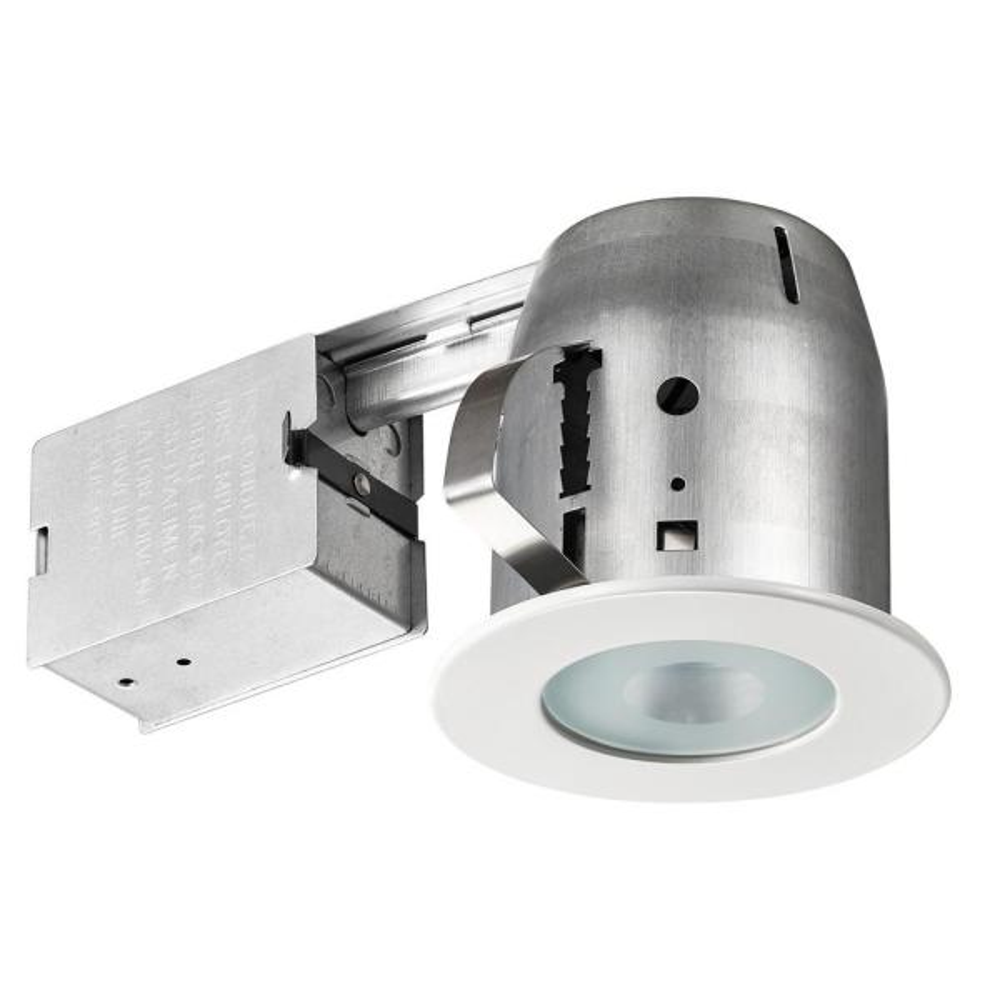 LED Shower 4 in. White Recessed Kit