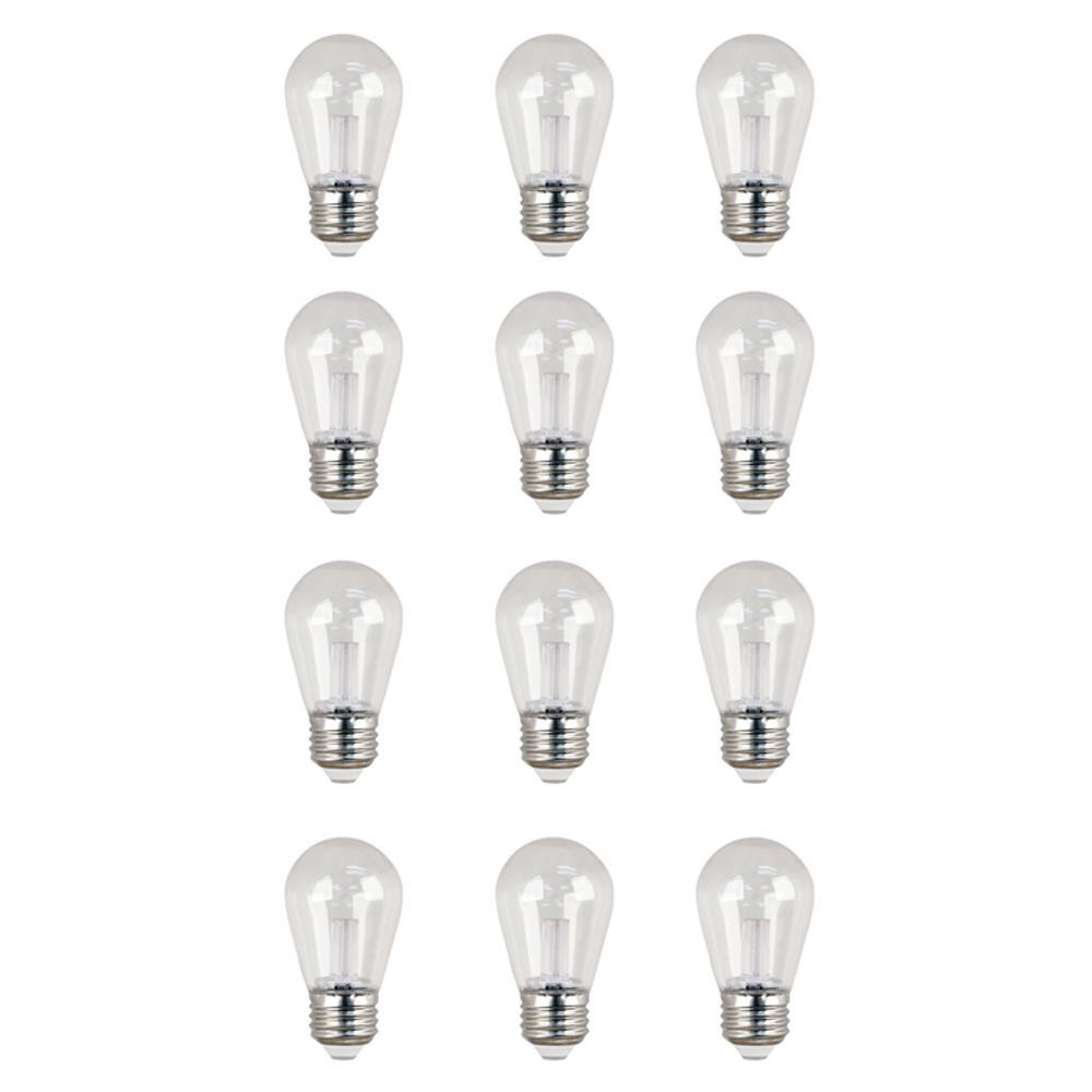 11W Equivalent Warm White (3000K) S14 LED Sign Light Bulb (12-Pack)