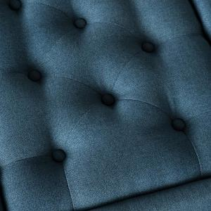 Enjoyable Noble House Chantelle Tufted Navy Blue Fabric Storage Caraccident5 Cool Chair Designs And Ideas Caraccident5Info