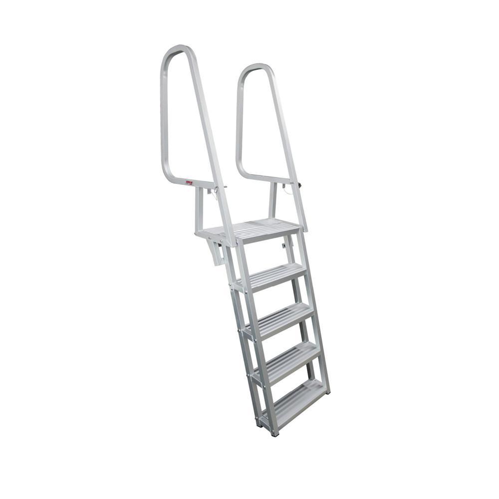Extreme Max 3005.3430 Aluminum 5 Step Under Mount Pontoon Ladder 2 year Warranty