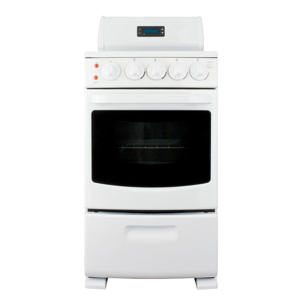 Summit Appliance 20 in. 2.62 cu. ft. Electric Range in White