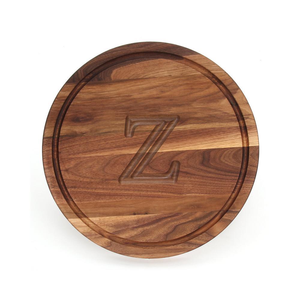 Round Walnut Cutting Board Z