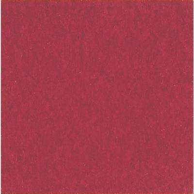Take Home Sample - Imperial Texture Cherry Red Standard Excelon Vinyl Tile - 6 in. x 6 in.