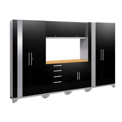 Performance 2.0 72 in. H x 108 in. W x 18 in. D Garage Cabinet Set in Black (7-Piece)