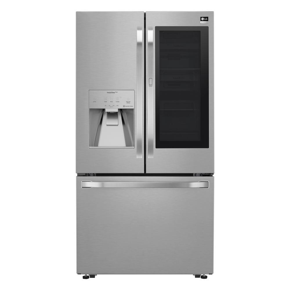 23.50 cu. ft. 3-Door French Door Refrigerator in PrintProof Stainless Steel, Counter Depth
