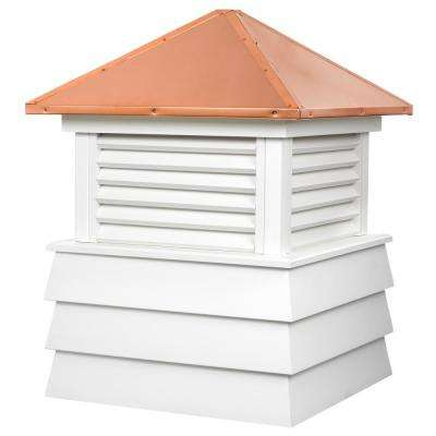 Dover 30 in. x 44 in. Vinyl Cupola with Copper Roof