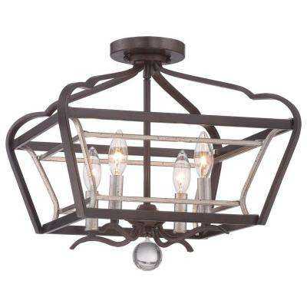 square bronze semi flushmount lights lighting the home depot