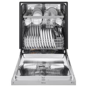 lg electronics front control dishwasher in stainless steel with stainless steel the home depot