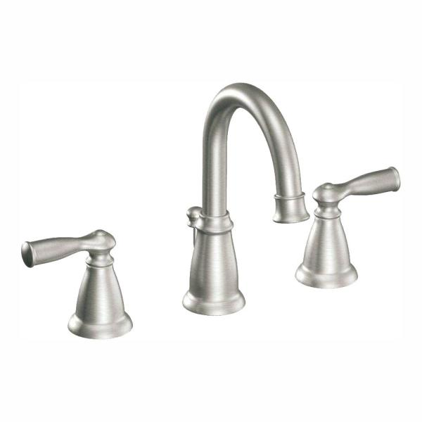 Banbury 8 in. Widespread 2-Handle High-Arc Bathroom Faucet in Spot Resist Brushed Nickel