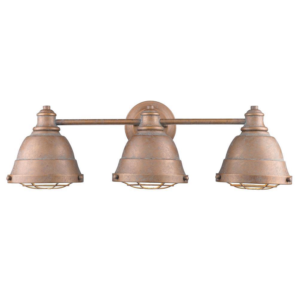 Bartlett 3-Light Copper Patina Bath Light