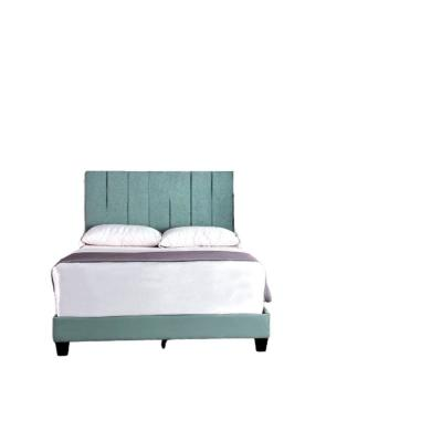 Mallory Dark Moderate Cyan Full Upholstered Platform Bed