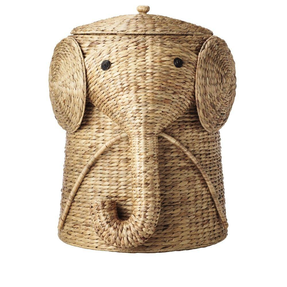 16 in. W Animal Laundry Hamper in Natural