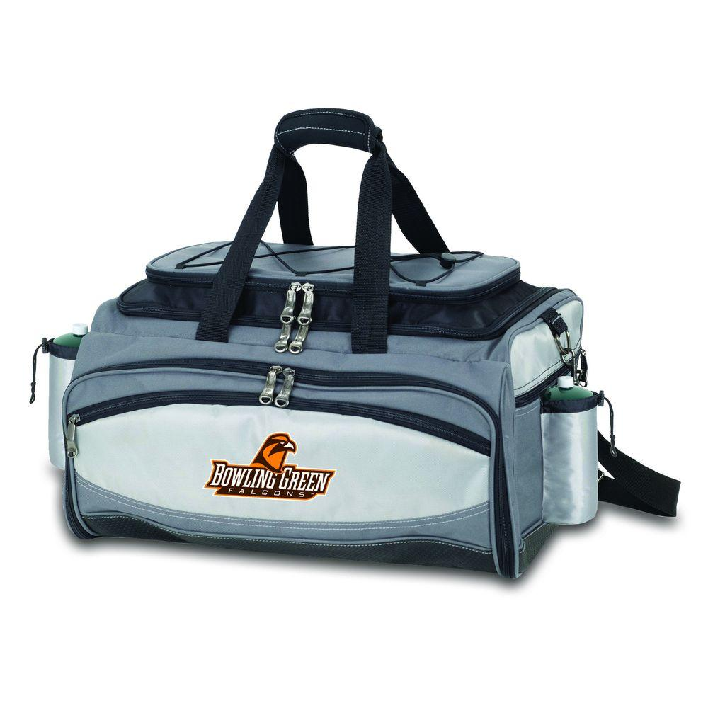 Picnic Time Vulcan Bowling Green State Tailgating Cooler and Propane Gas Grill Kit with Digital Logo