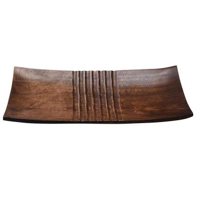 18 in. x 9 in. Brown Handmade Decorative Mango Wood Serving Tray